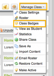Manage Badges in Haiku Learning