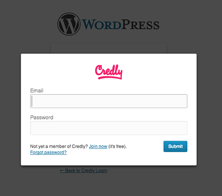 Credly Login to WordPress