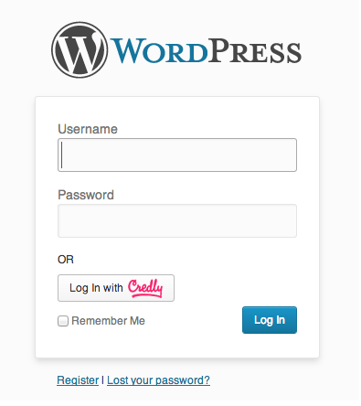 Sign to WordPress with your Credly Account