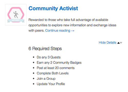 Display select or all earned achievements and badges on the BuddyPress Activity Stream and User Profiles.