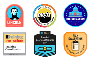 Examples of Digital Badges Issued via Credly