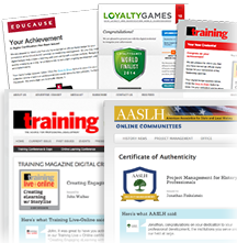 Your brand front and center when issuing Digital Badges